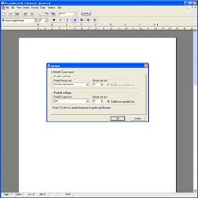 BanglaSoftware Group. BanglaWord  processor software screen grab: Advanced options, allow you to set default fonts and sizes as well as auto save function.